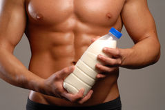 Milk sport. Royalty Free Stock Image