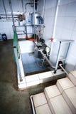 Milk sterilization unit. Cow farm milk sterilization unit. Agriculture and industrialization Stock Photography