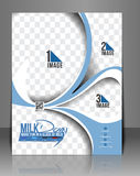 Milk Store Flyer Stock Photography