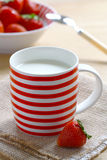 Milk and strawberries Royalty Free Stock Photos