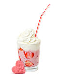 Milk strawberry dessert Royalty Free Stock Photo