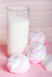 Milk and sweet dessert Royalty Free Stock Images