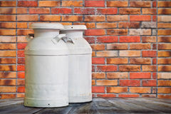 Milk Tank. S in front of of a house stock photography