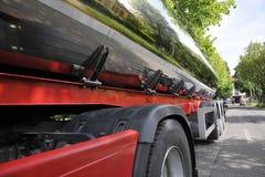 Milk tank. Auto tank - food transport , milk stock image