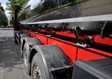 Milk tank. Auto tank - food transport , milk stock images