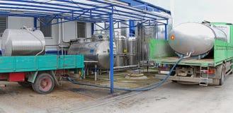 Milk tankers Stock Image
