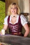 Milk tastes Royalty Free Stock Photo