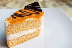 Milk Tea Cake. Mile Tea Cake with chocolate Royalty Free Stock Photo