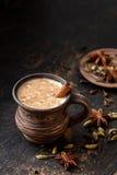 Milk tea chai latte traditional tasty refreshing morning breakfast sweet organic healthy hot beverage drink Stock Photography