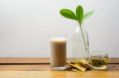 Milk and tea Stock Photos