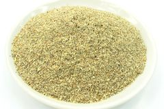 Milk Thistle ground powder Silybum marianum Stock Image