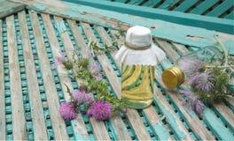 Milk thistle oil Royalty Free Stock Photos