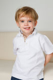 Milk tooth. Young boy has some problem with his milk tooth royalty free stock photography