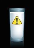 Milk Unhealthy Hazard Symbol Royalty Free Stock Images
