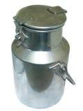 Milk urn. Isolated milk urn royalty free stock photos