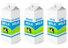 Milk. Vector illustration of Milk Containers Royalty Free Stock Image