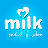 Milk - vector logo Royalty Free Stock Photo