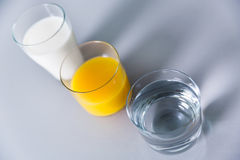 Milk, water or juice? Stock Image