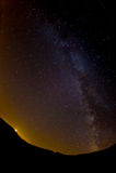 Milk way in night sky from Italy Royalty Free Stock Photos