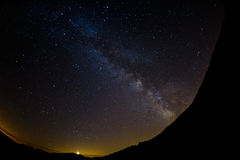 Milk way in night sky from Italy Royalty Free Stock Photos