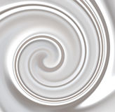 Milk ,Whipped or White Yoghurt Cream Swirly royalty free stock photos