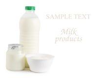 Milk, yogurt, and Ricotta cheese Stock Photo