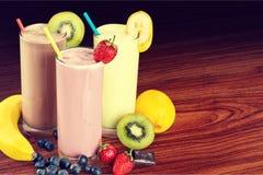 Milk yogurts Royalty Free Stock Photo