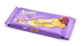 Milka caramel chocolate Stock Image