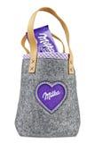 Milka chocolate bag Royalty Free Stock Photography