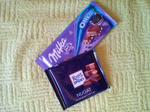 Milka. Chocolate milk ritter milka Royalty Free Stock Photography