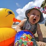 Milka con el pato 2 Imagen de archivo libre de regalías