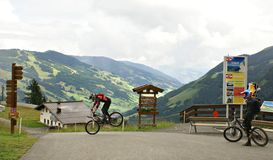 The Milka Line in Saalbach ,a ride track for the whole family ,on the Kohlmais Mountains. Royalty Free Stock Photography