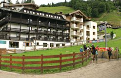 The Milka Line in Saalbach ,a ride track for the whole family ,on the Kohlmais Mountains. Stock Photos