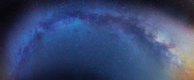 Milkey sposobu galaxy obrazy royalty free