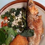 Milkfish fritado Imagem de Stock