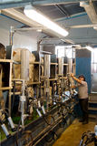 Milking parlour on small dairy farm. Royalty Free Stock Photography