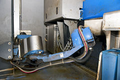 Milking robot. A fully automated milking robot at a modern dairy farm royalty free stock photos