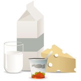 Milkproducts Stock Photo