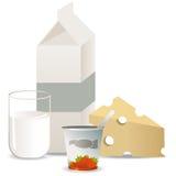 milkproducts Zdjęcie Stock