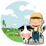 Milks cow Royalty Free Stock Image