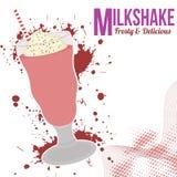 Milksake rocznika plakat Zdjęcie Stock