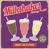 Milksakes vintage poster Stock Image