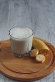 Milkshake με την μπανάνα Στοκ Εικόνες