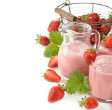 Milkshake με τις φράουλες στοκ φωτογραφία