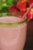 milkshake φράουλα στοκ φωτογραφίες