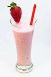 Milkshake клубники Стоковое Фото