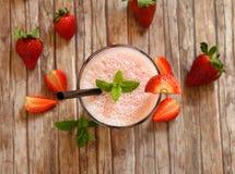 Milkshake клубники Стоковые Изображения
