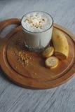 Milkshake с бананом стоковые фото