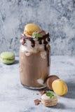 Milkshake шоколада с мороженым Стоковое Изображение RF