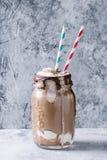 Milkshake шоколада с мороженым Стоковые Изображения RF
